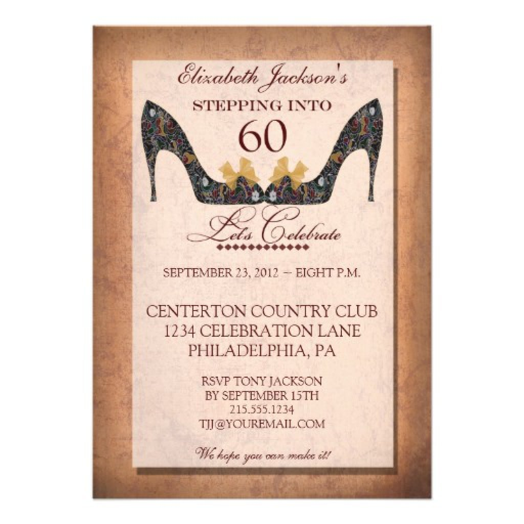 60th birthday invitation template free - Acur.lunamedia.co