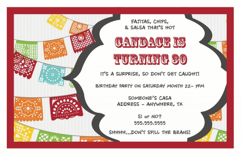 surprise birthday party invitation template