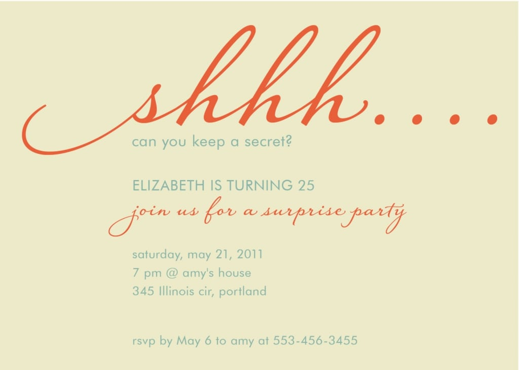 Surprise Birthday Party Invitations For Adults
