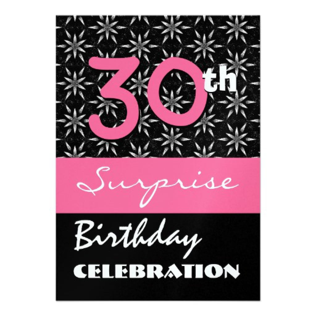 Surprise Invitations Templates Free 5