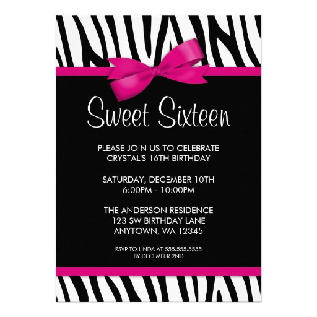 Sweet 16 Party Invitation Templates 5
