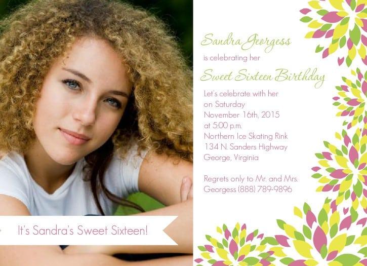 Sweet Sixteen Birthday Invitations Templates 3