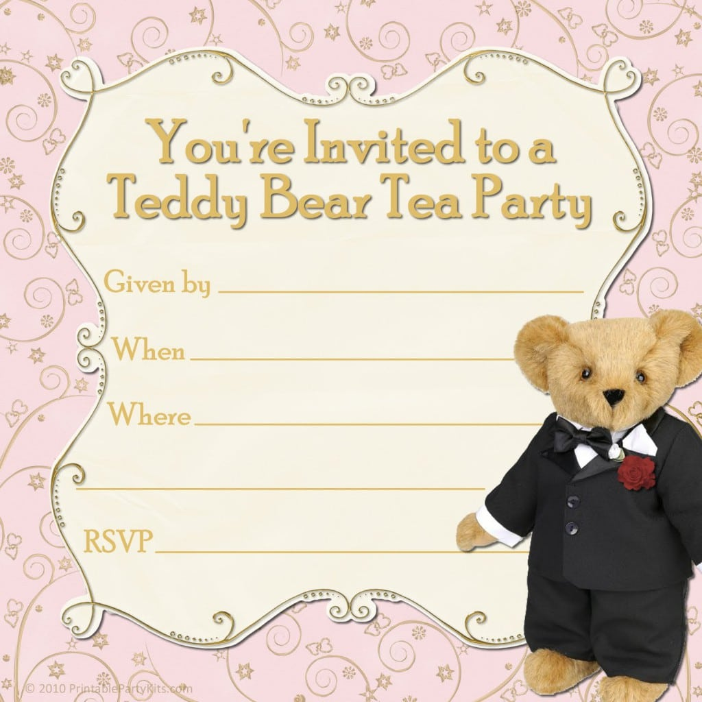 Tea Party Invitation Template Download 3