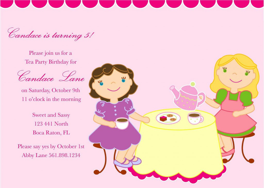 Tea Party Invitation Template Download - Tea party invitation template free