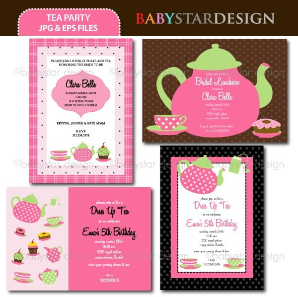 Tea Party Invitation Template Download 5