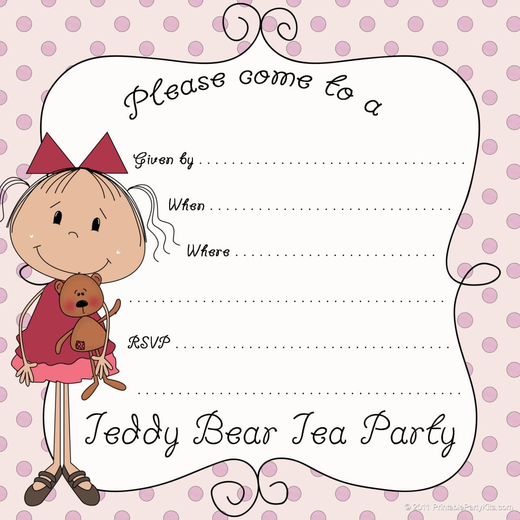 Tea Party Invitation Template Download