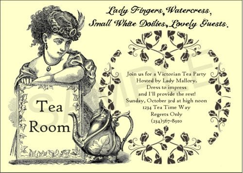 Tea Party Invitation Templates Free 2