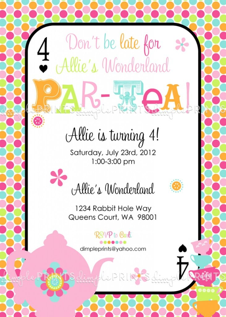 Tea Party Invitation Templates Free 4