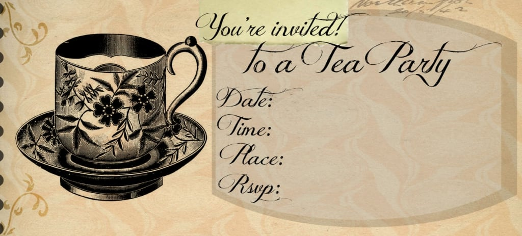 Tea Party Invitations Printable Template