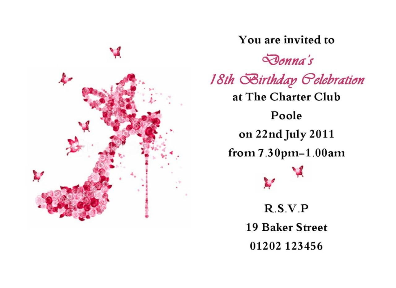 Template For 16th Birthday Party Invitations 5