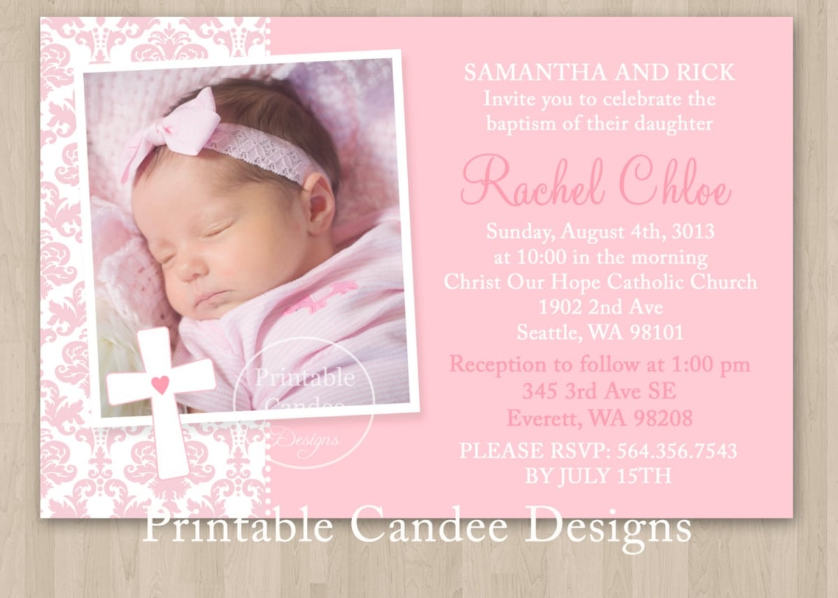 ... Template Christening Invitation Template For Baptism Invitations ...