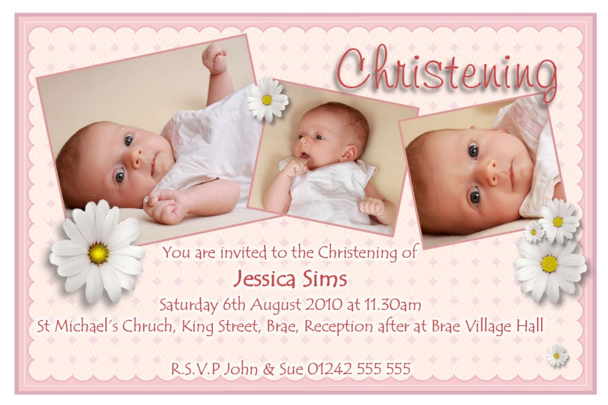 Template For Christening Invitations