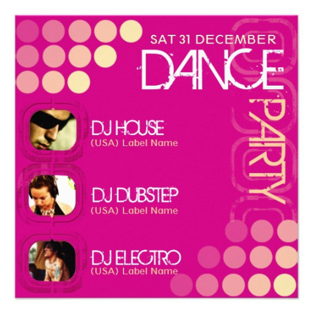 Template For Disco Party Invitation 3