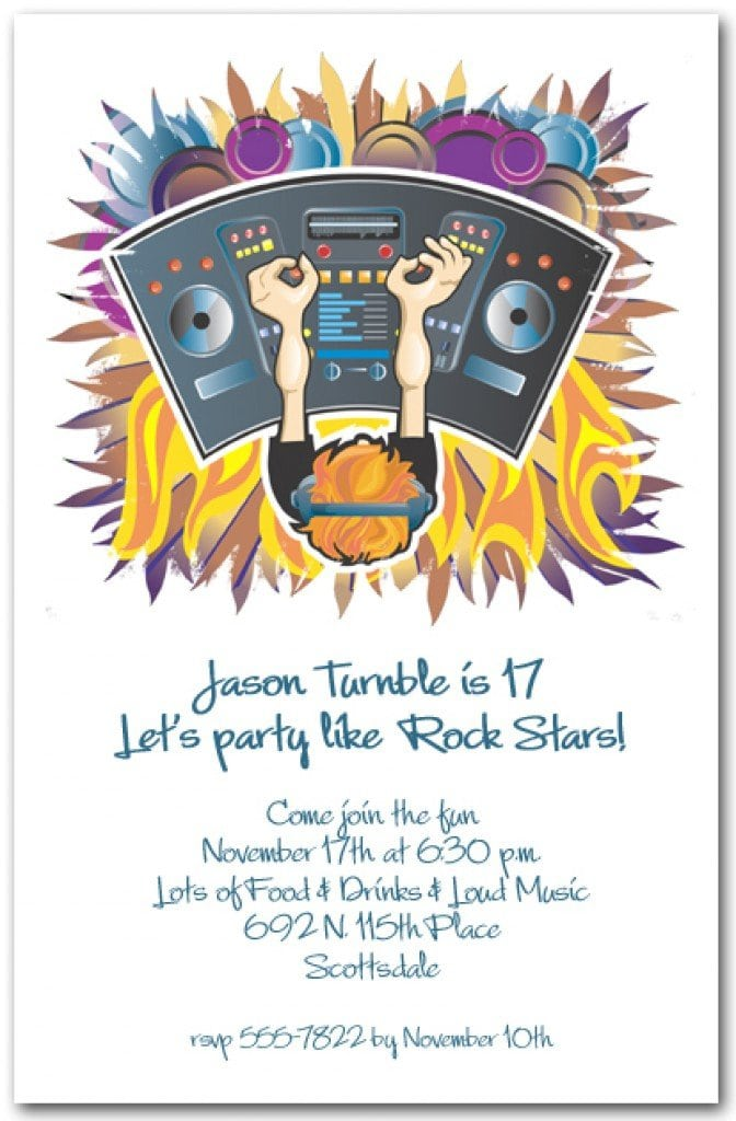 Template For Disco Party Invitation 4