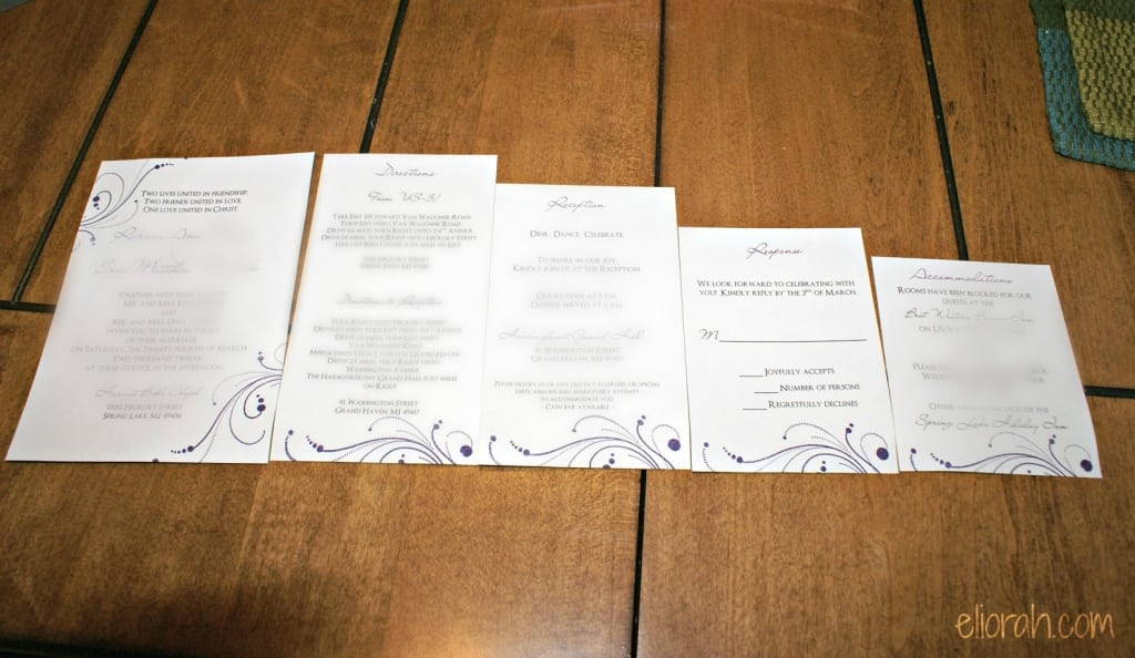Templates For Wedding Invitation Inserts