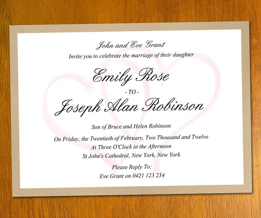 Templates For Wedding Invitations Free To Download 2