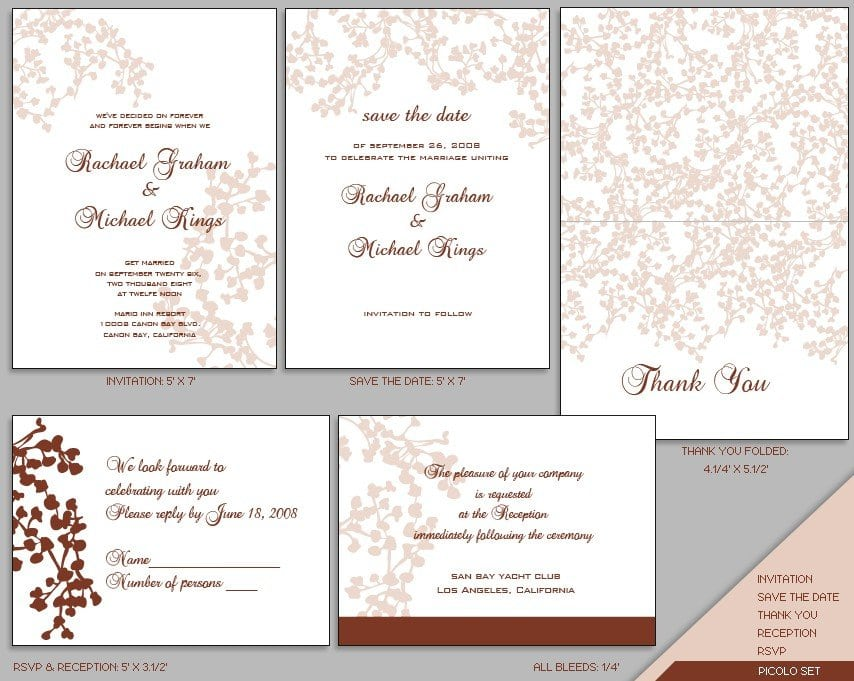 Templates For Wedding Invitations Free To Download 5