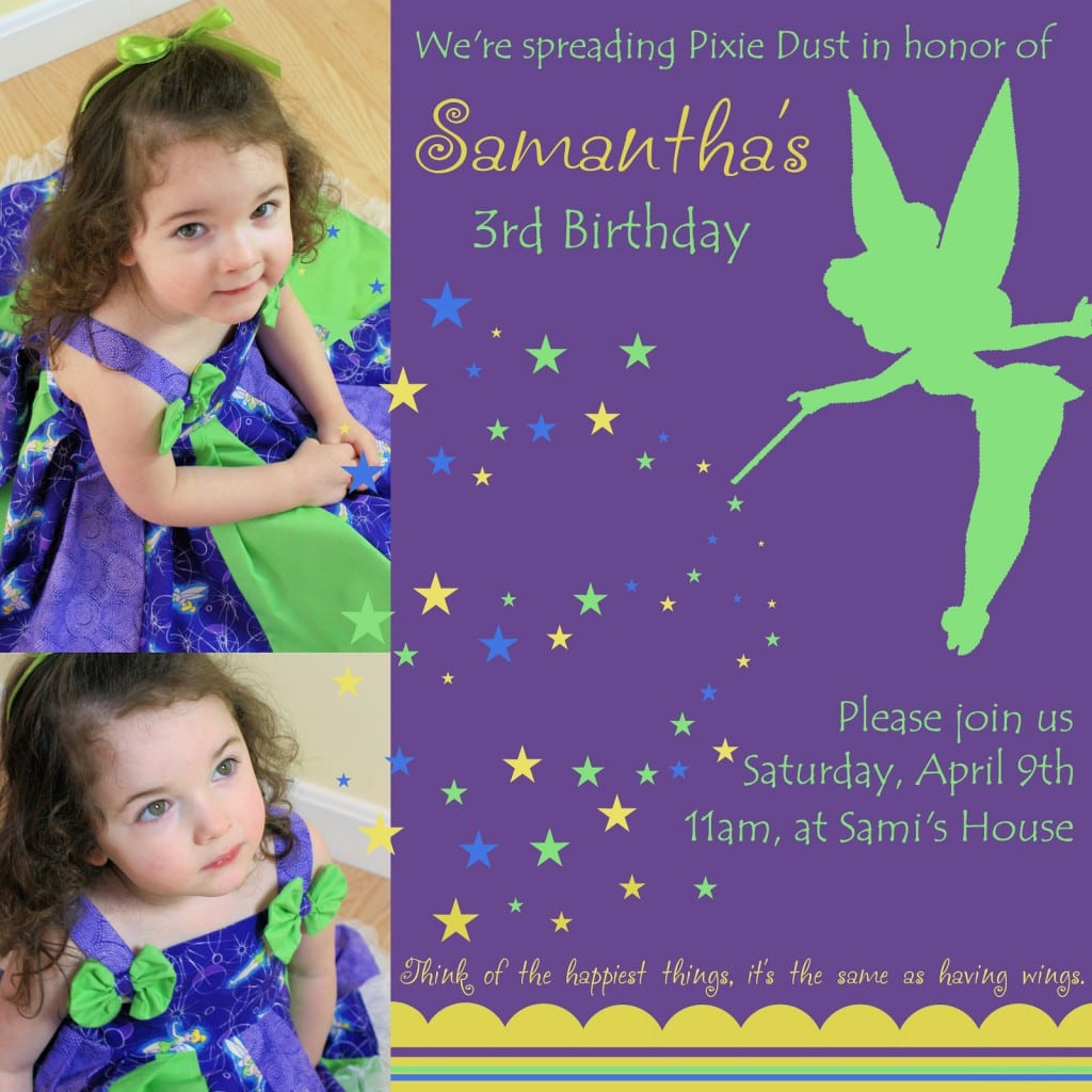 Tinkerbell Invitations Printable Free 3