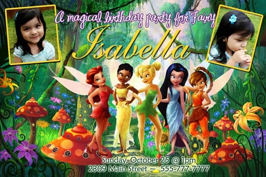 Tinkerbell Invitations Printable Free 4