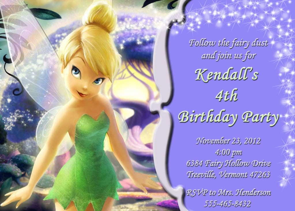 Tinkerbell Invitations Printable Free