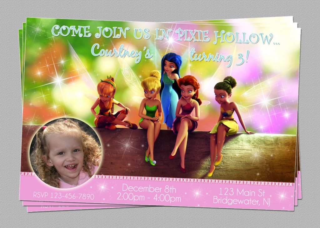 Tinkerbell Party Invitation Printable Free