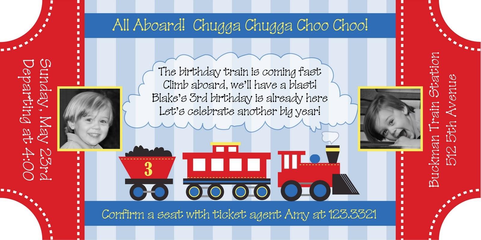 Train Ticket Invitation Free Template