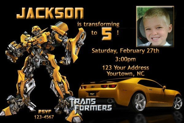 Transformers Birthday Invitations Printable Free 2