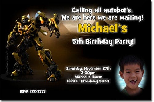 Transformers Birthday Invitations Printable Free 5