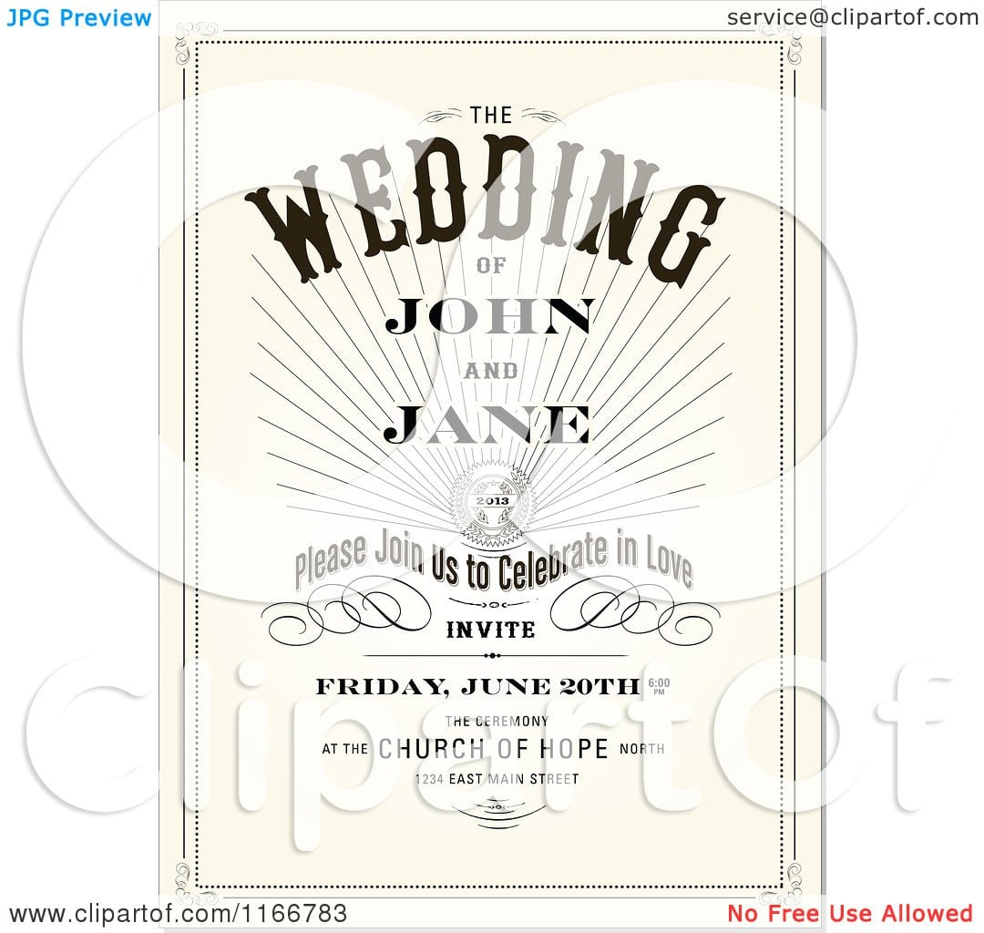 Vintage Engagement Party Invitations Free Download 5