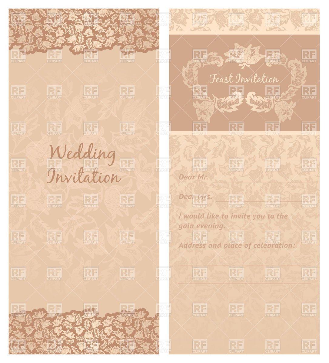 Free Vintage Wedding Invitation Templates