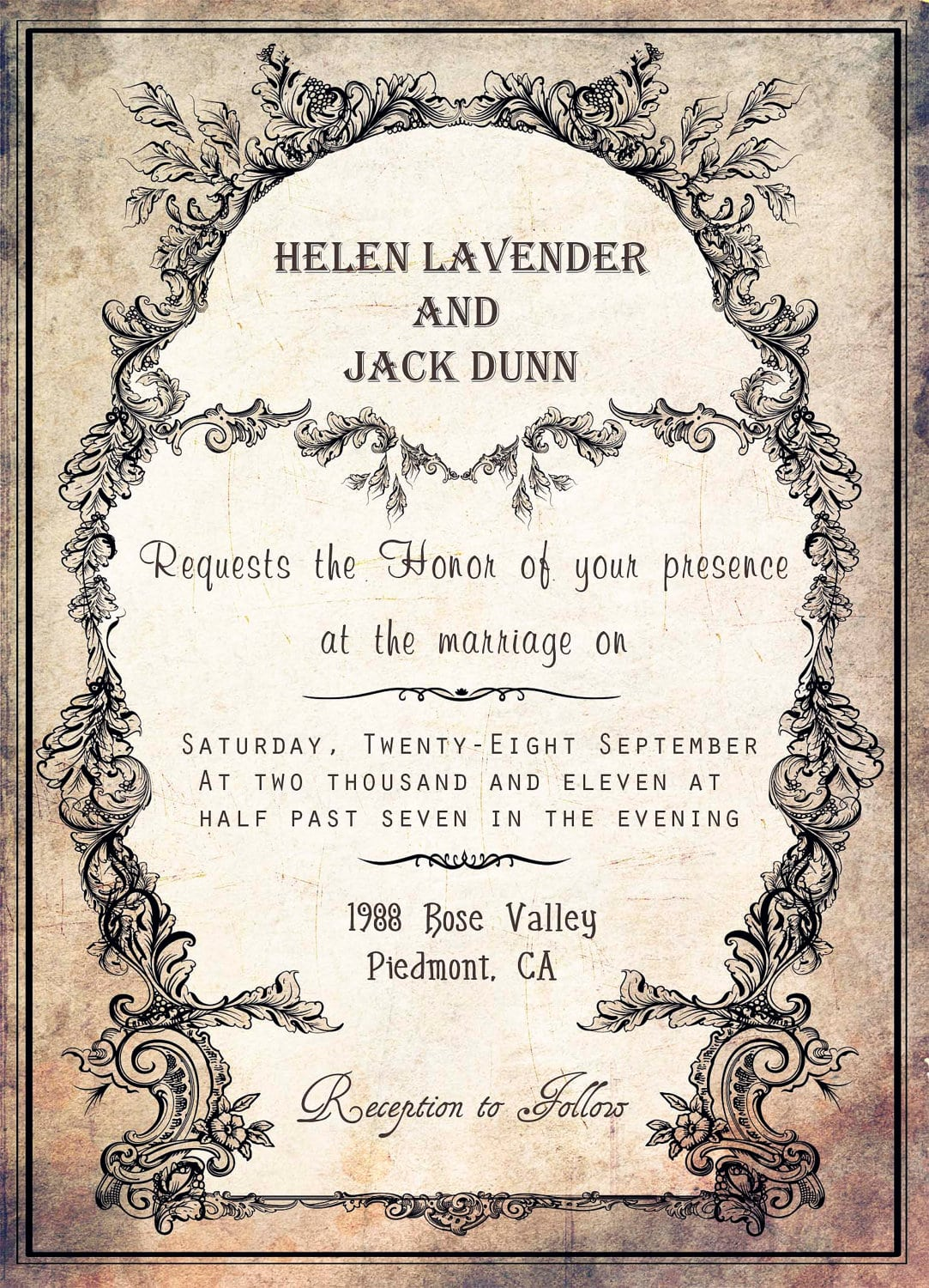 Vintage Invitations Template