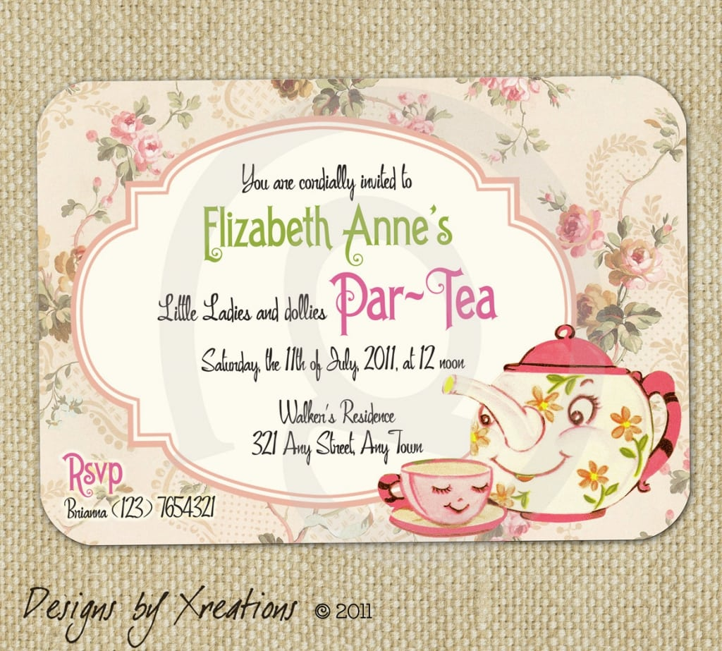 Vintage Tea Party Invitations Free