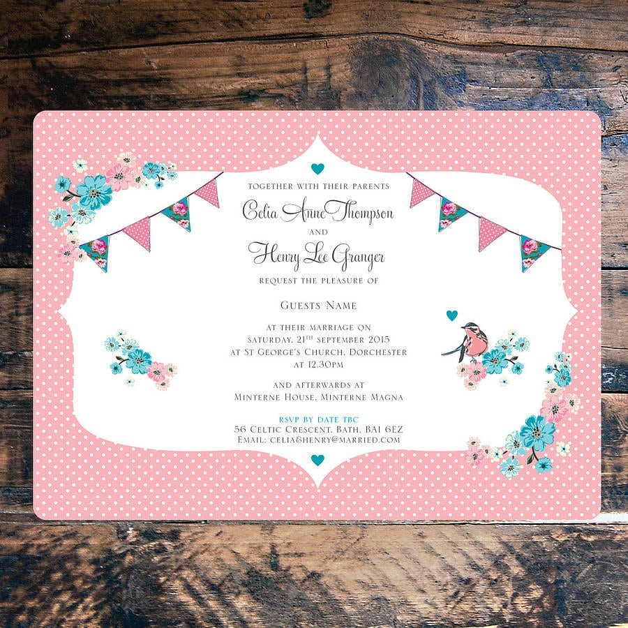 Vintage Tea Party Invitations Uk