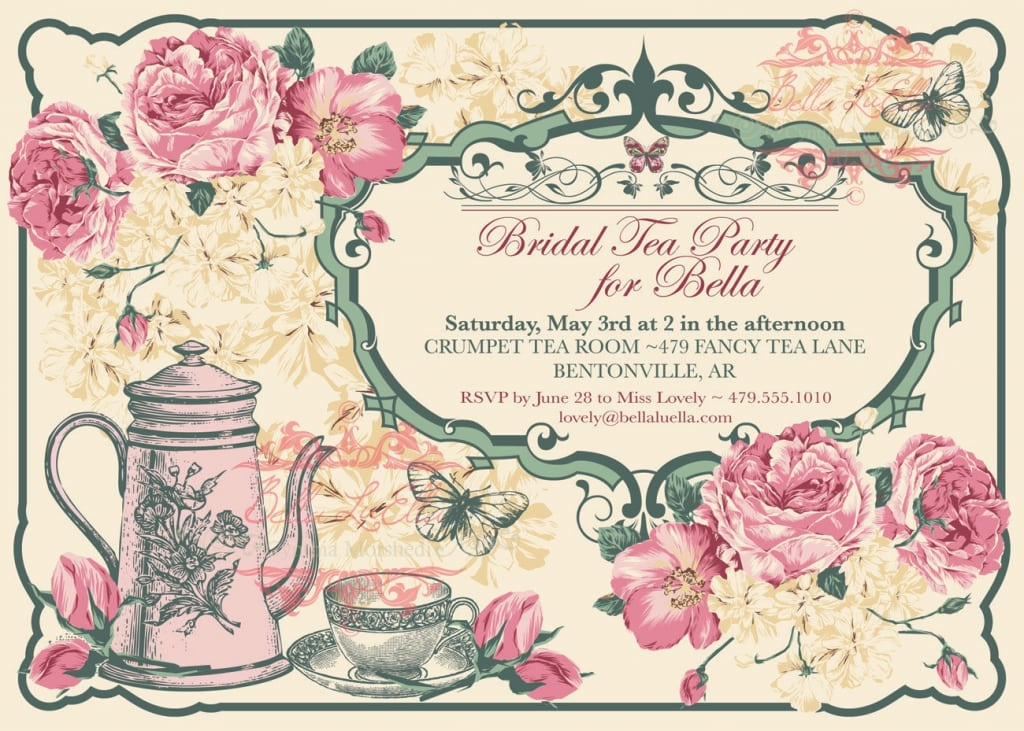 Vintage Tea Party Invites