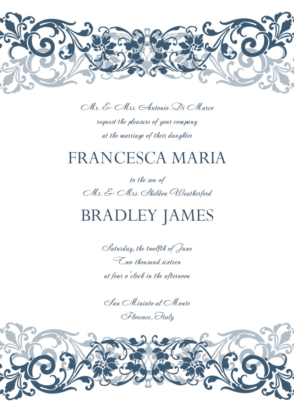 Vintage wedding invitation templates photoshop