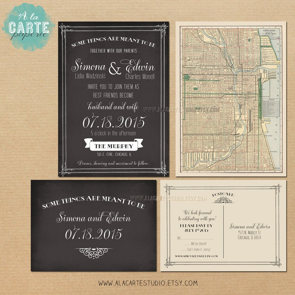 Vintage Wedding Invites Etsy