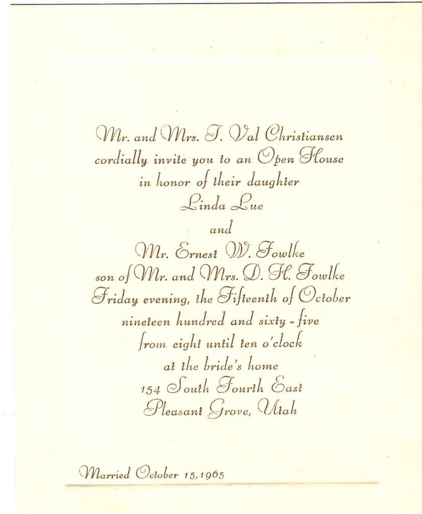 Wedding Dinner Invitation Email