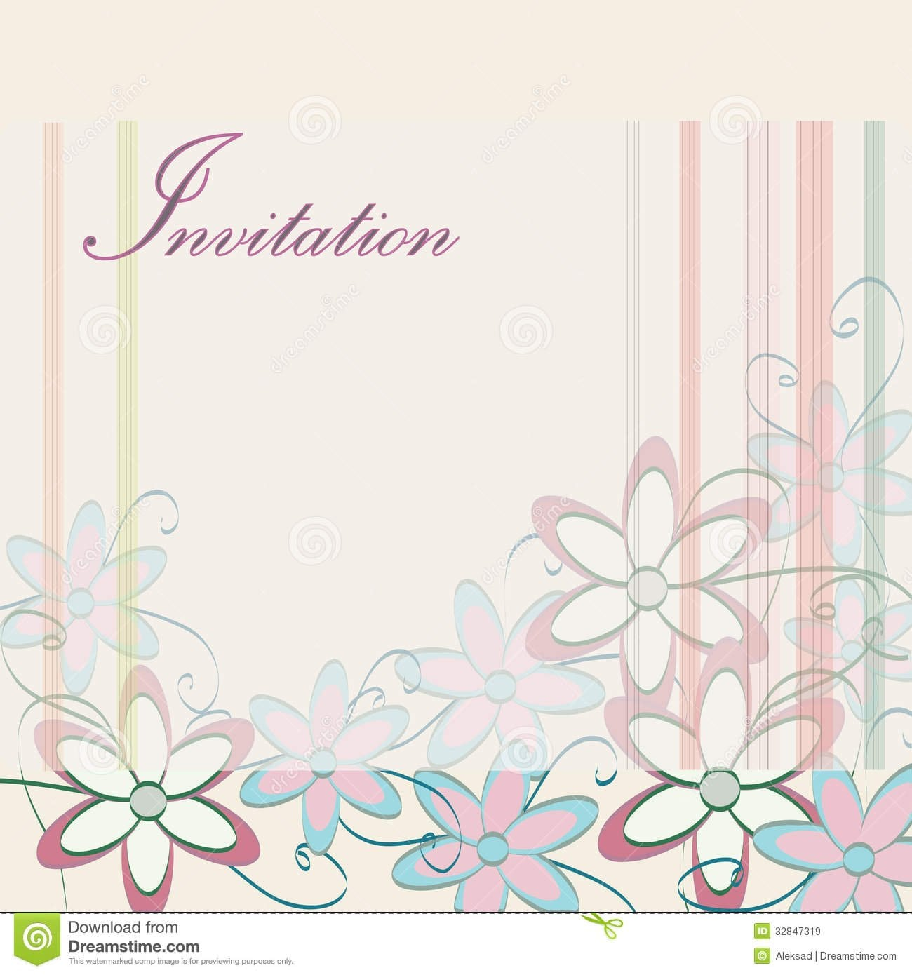 invitation card design template