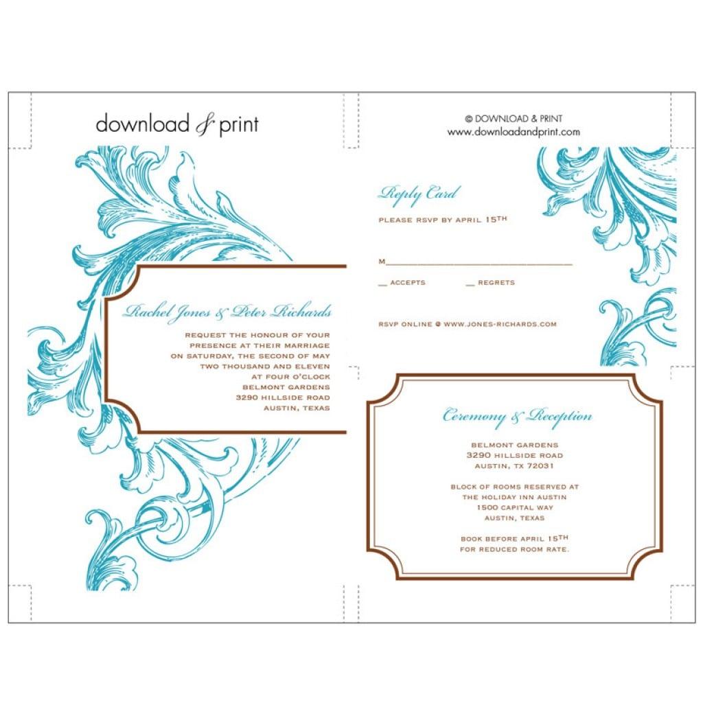 Wedding Invitation Free Templates 4