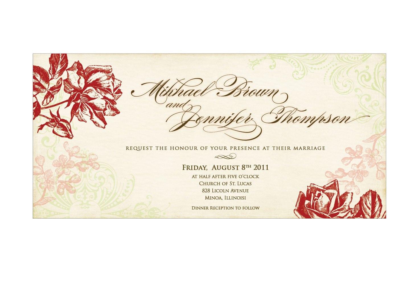 Wedding Invitation Free Templates