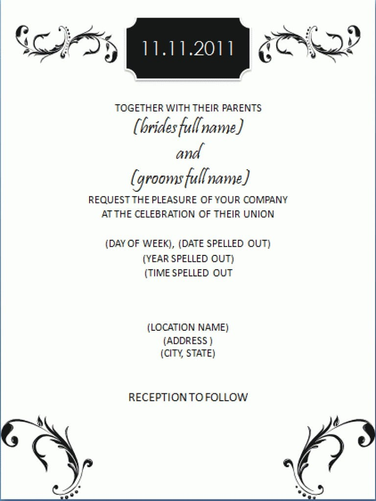 Wedding Invitation Free Templates For Download 5