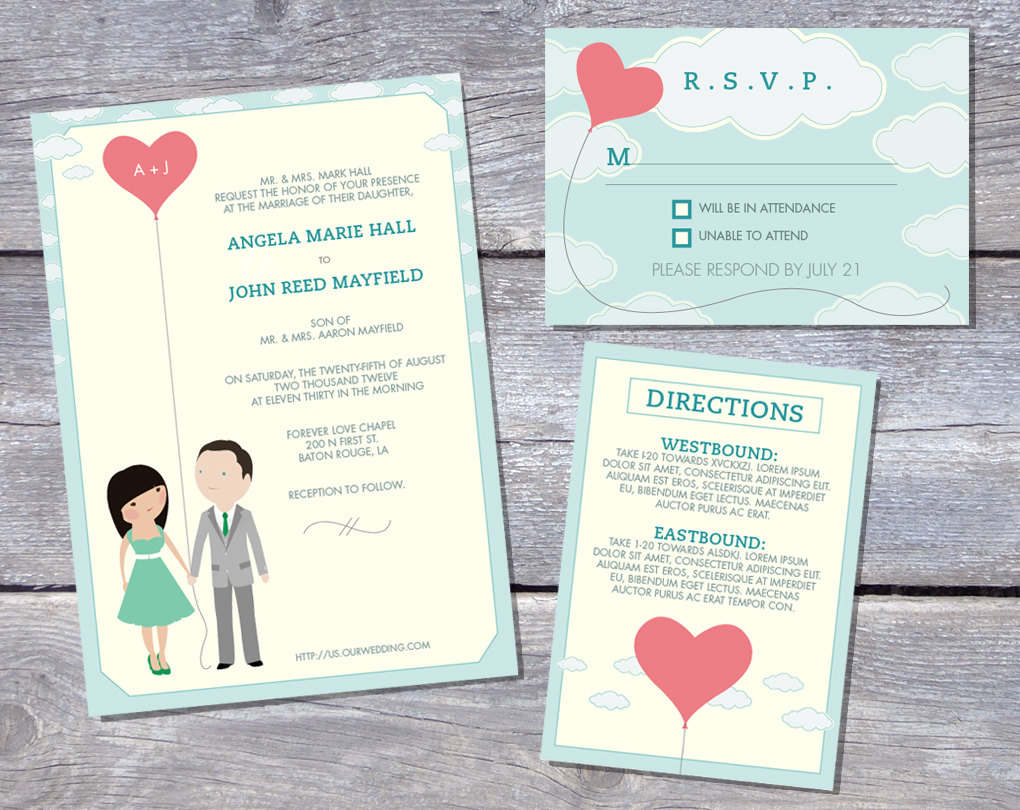 Wedding Invitation Templates Free Printable - Wedding invitation templates: free templates for wedding invitations