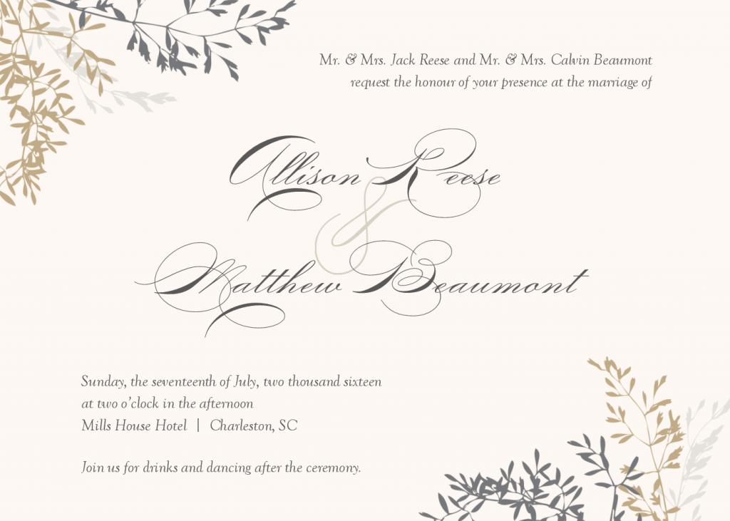 Wedding Invitation Pdf Templates