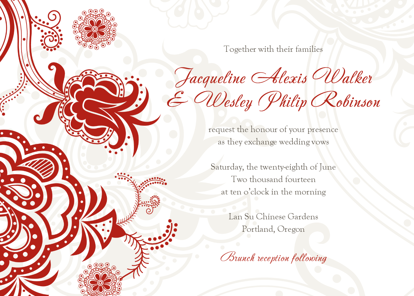 Red Invitations Wedding with good invitation template