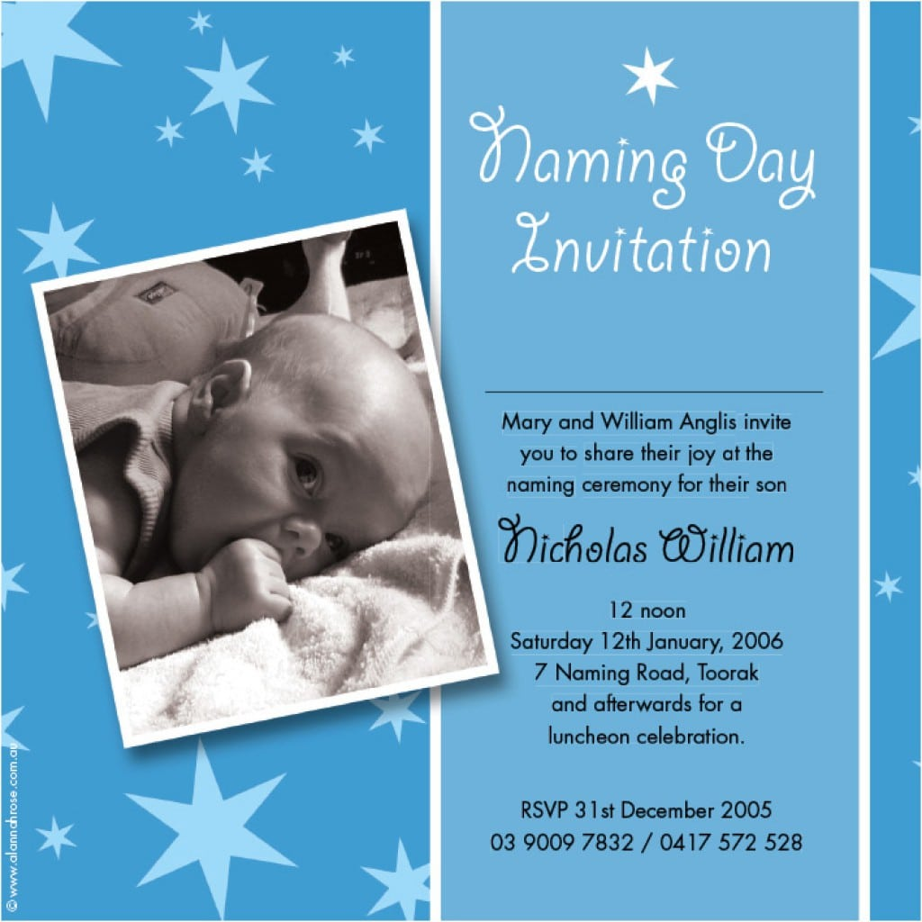 Wedding Invitation With Christening Baptism To Be Followed 4
