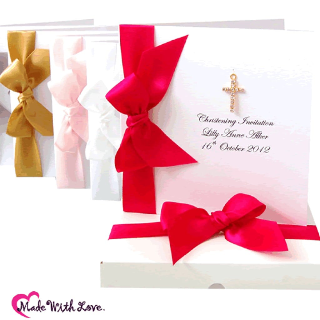 Wedding Invitation With Christening Baptism To Be Followed