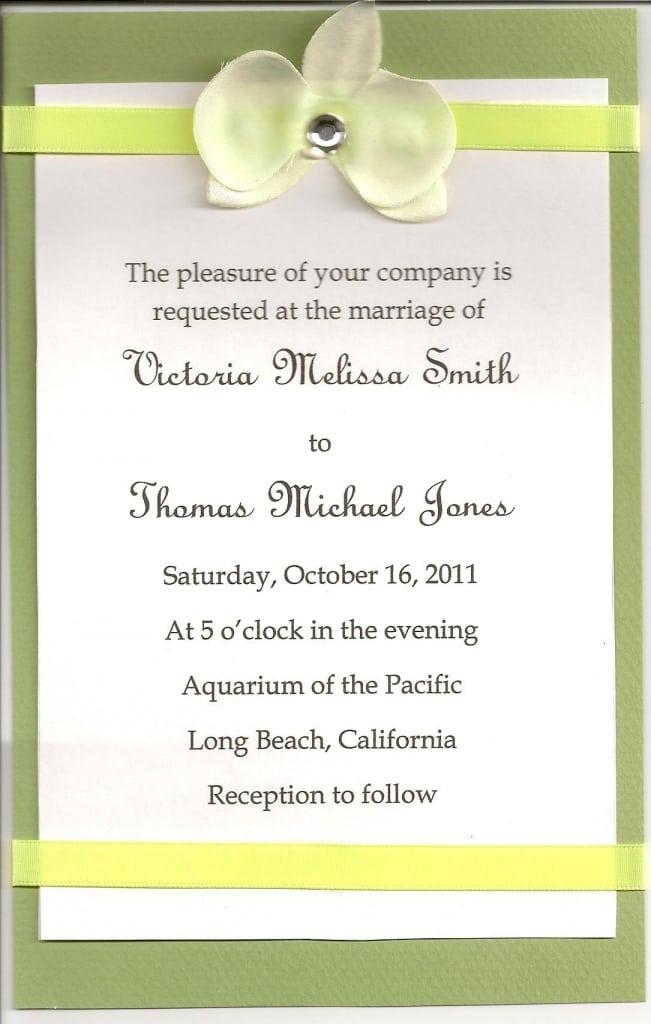 Wedding Invitations Format