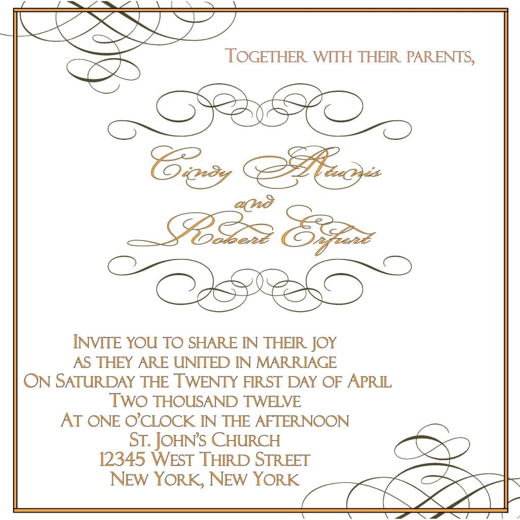 Wedding Templates Invitations 2