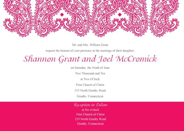 Wedding Templates Invitations 4