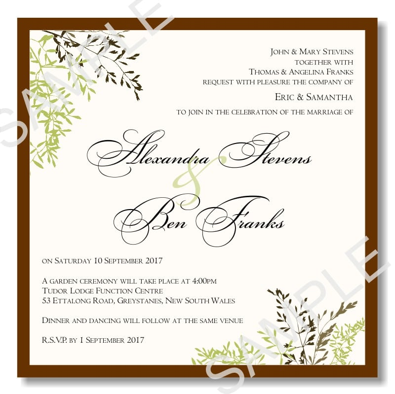 Wedding Templates Invitations 5